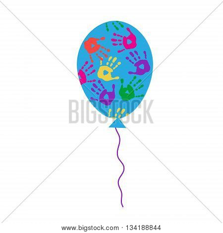 The cute balloon with a different handprints