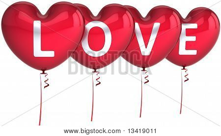 Red balloons of Love party