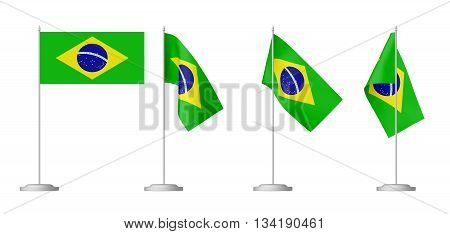 Small Table Flag Of Brazil Set