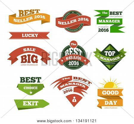 Web selling discount offer banners ads set with origami elements. Offer sale banner and discount advertising sale. Vector illustration