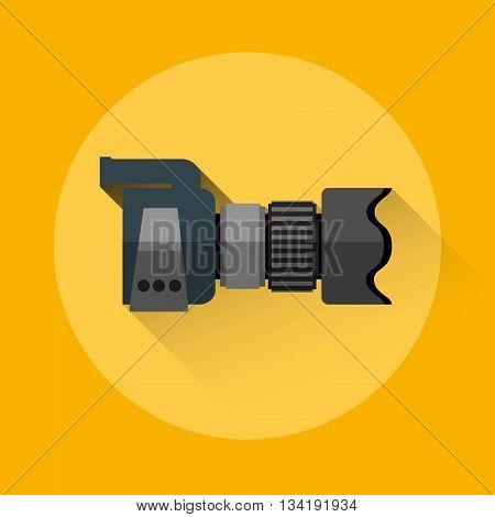 Professional Camera Icon Flat Logo Vector Illustration