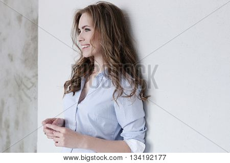 Beautiful woman with cute face