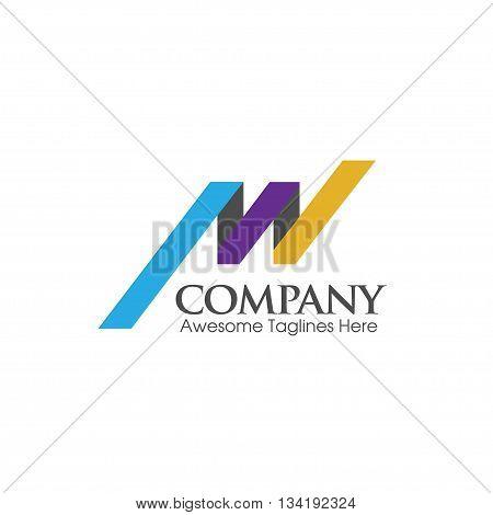 modern letter AW logo creative vector concept