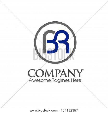 modern BR, RB letter creative logo vector