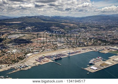 Aerial View Of Marseille In France