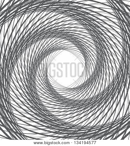 Spiral Whirl Abstract Background Black And White