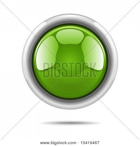 Green vector shiny button