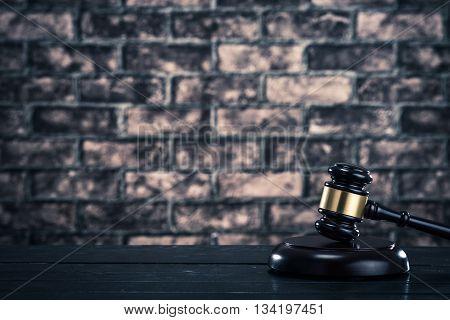 Auction Hammer Brick Background