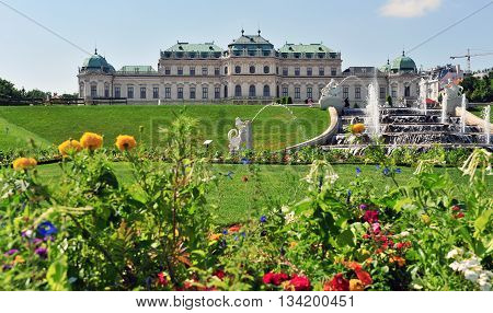 Summer flowers in the Belvedere palace, Austria