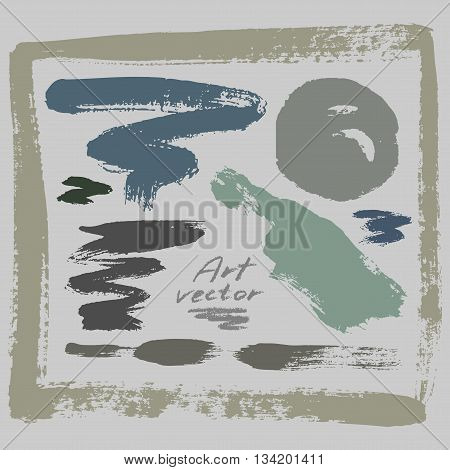 abstract background with a set of hand-drawn art elements