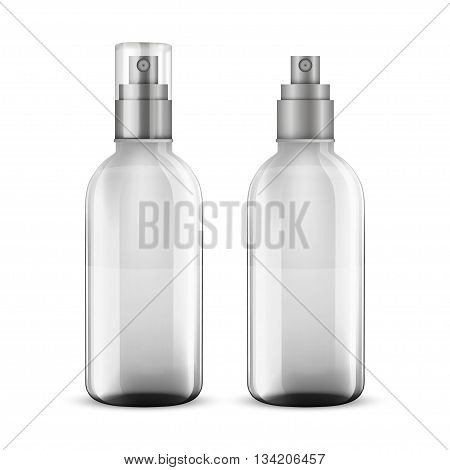 white shampoo bottle isolated on white  vector illustration.