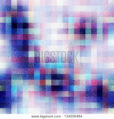 Seamless background pattern. Abstract plaid pattern with the fabric texture.
