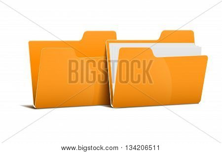 file folder isolated on a white background