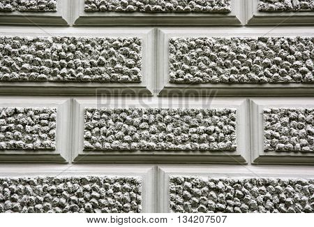 Close up of retro wall of house. Architectural element. Graphic resources. Solid wall. Architectural style.
