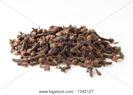 Whole Cloves Spices In Pile