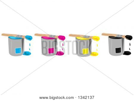 Cmyk Paint Buckets.Ai