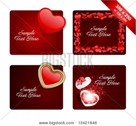Valentine's day banners or backgrounds set 8