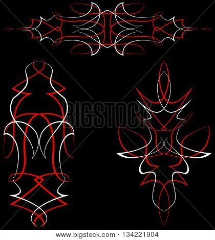 Pinstripe Design Vinyl Ready Vector Illustration
