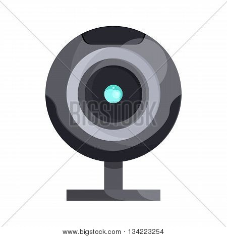 Webcam icon in cartoon style on a white background
