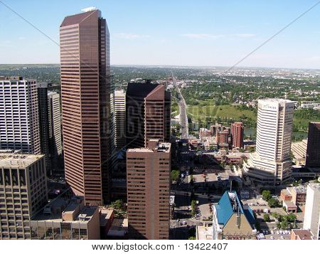 Skyscrapers in Calgary