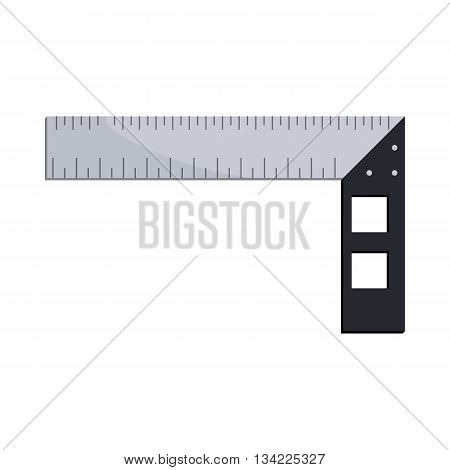 Construction square triangle icon in cartoon style on a white background