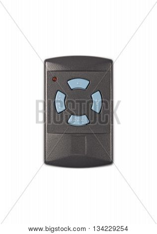 Radio Frequency Garage Door Remote Isolated on White Background (with clipping path)