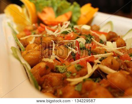 Popular Iftar item roasted chickpeas for holy Ramadan in Bangladesh(closeup)