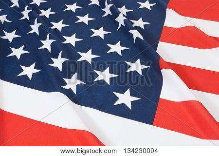 Studio Shot Of Ruffled National Flag - United States