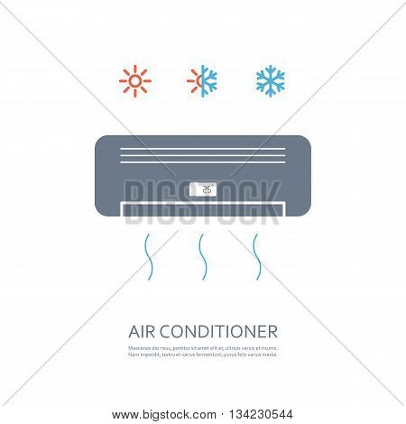 air conditioner icon. isolated on white background. vector illustration