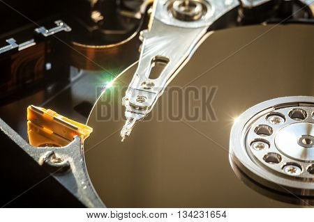 Hdd Internal Parts Close-up Shot