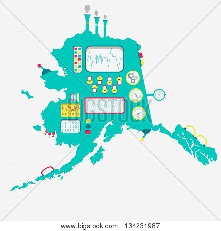 Map Of Alaska Machine