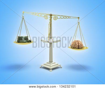 Knowledge Is Money Business Concept 3D Illustration On Gradient