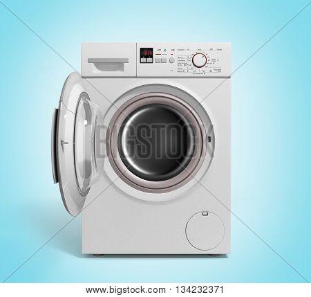 Washing Machine On Gradient Background 3D Illustration