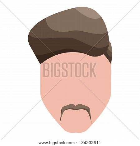 Modern mens hairstyle icon in cartoon style on a white background
