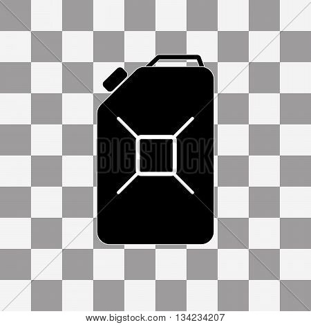 Jerrycan oil. Vector icon on a transparent background