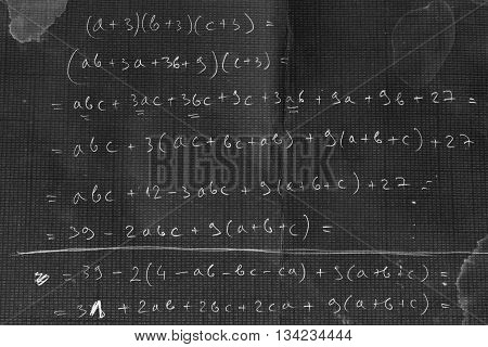 Proving a simple polynomial identity on the blackboard