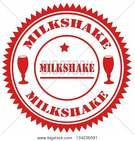 Red stamp with text Milkshake, vector illustration