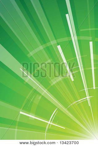 Grüner Hintergrund mit Strahlen