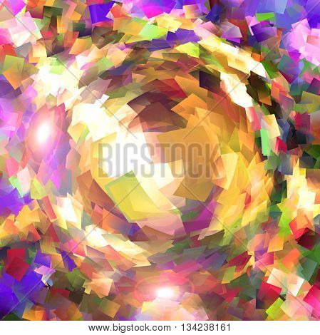 Abstract coloring background of the square wood frame gradient with visual pinch effects