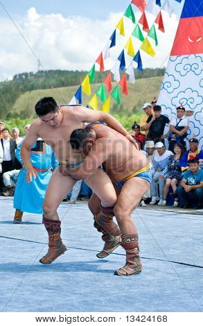 Luchadores mongoles