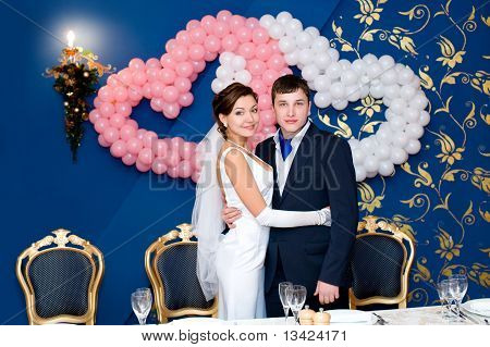 Bridegroom And Bride At Banquet