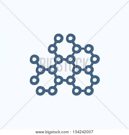 Molecule vector sketch icon isolated on background. Hand drawn Molecule icon. Molecule sketch icon for infographic, website or app.