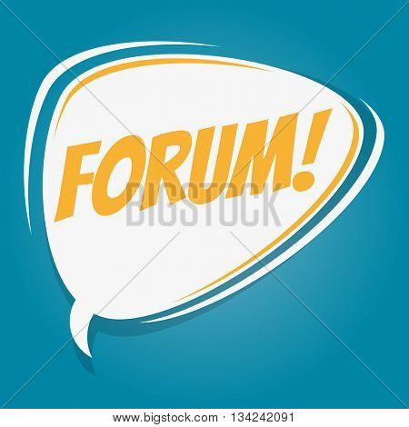 forum retro speech bubble