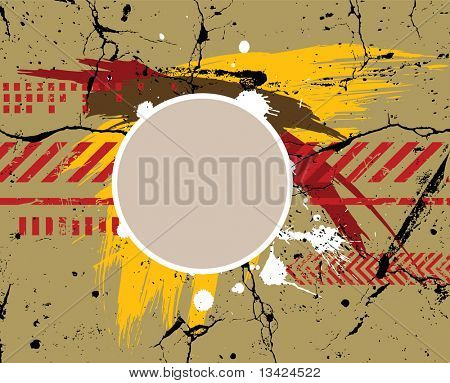 Army / navy / grunge background - for different text use my another illustration called Grunge Alphabet