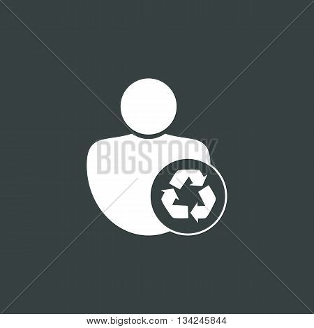 Recycle Icon In Vector Format. Premium Quality Recycle Symbol. Web Graphic Recycle Sign On Dark Back