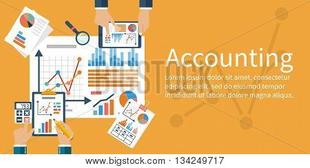 Accounting Concept. Vector