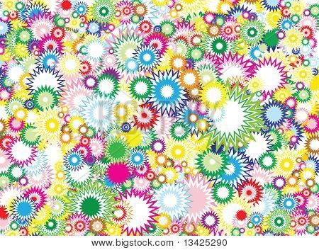 Lot of vivid circles - background / pattern / texture