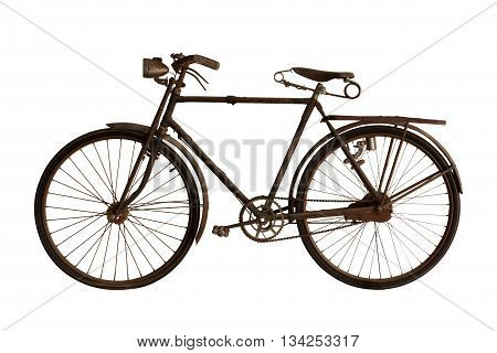 retro bicycle isolated on a white background