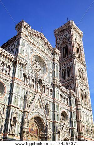 Campanile di Giotto and Duomo di Firenze, Florence in Italy