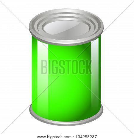 Tincan Metal Tin Can, Canned Food. Ready For Your Design. Product Packing Vector Eps10